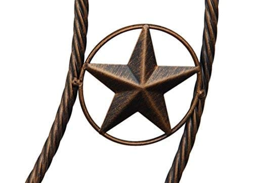 EBEI 315 Large Metal Barn Star Western Home Wall Decor Vintage Circle Dark Brown Texas Lone Star With Letters Welcome 0 1