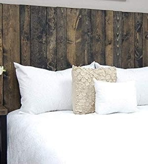 Ebony Headboard Queen Size Stain Hanger Style Handcrafted Mounts On Wall Easy Installation 0 300x332