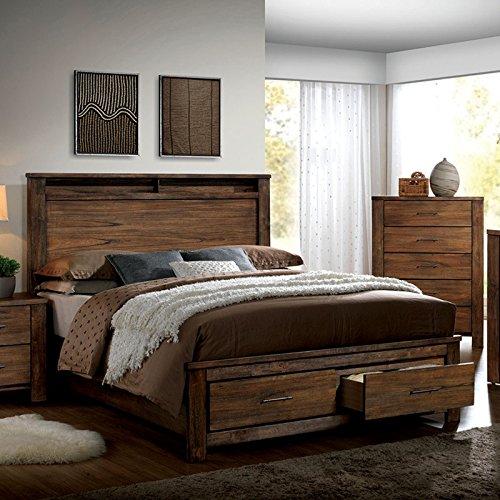Elkton Oak Finish King Size 6 Piece Bedroom Set 0
