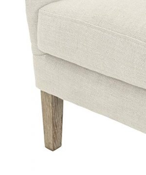Elle Decor Wingback Upholstered Accent Chair Farmhouse Armchair For Living Room Two Toned Beige 0 4 300x360