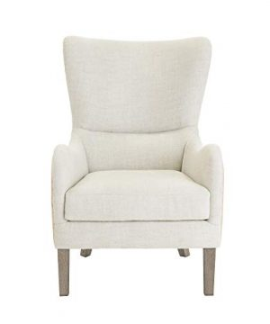 Elle Decor Wingback Upholstered Accent Chair Farmhouse Armchair For Living Room Two Toned Beige 0 5 300x360