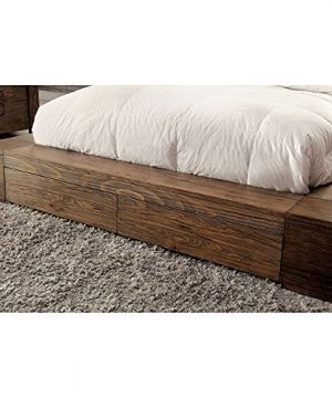 Esofastore Janeiro Collection California King Size Bed Rustic Natural Tone Finish Low Profile Bed W Storage Drawers FB Bedroom Furniture 1pc Bed Solid Wood 0 2 300x360