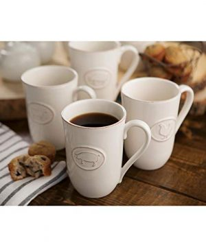 Farmhouse Stoneware Mugs With Antique Finish In Cream 6 Pack 0 0 300x360