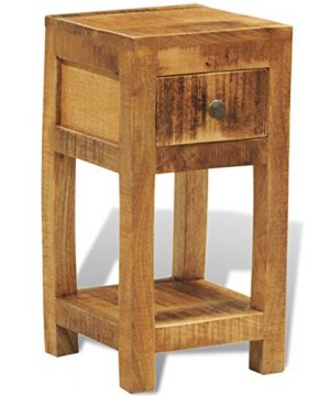 Festnight Solid Wood Display Side End Table Nightstand With 1 Drawer 0 300x360