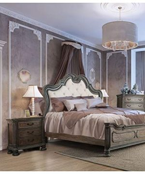 Furniture Of America Brigette Traditional 2 Piece Ornate Rustic Natural Tone Bedroom Set With Nightstand Queen 0 300x360