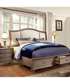 Furniture Of America Minka IV Rustic Grey 2 Piece Bed With Nightstand Set King 0 0 300x360