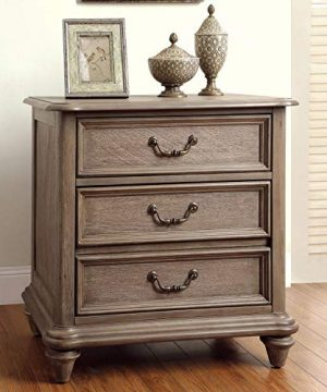 Furniture Of America Minka IV Rustic Grey 2 Piece Bed With Nightstand Set King 0 1 300x360