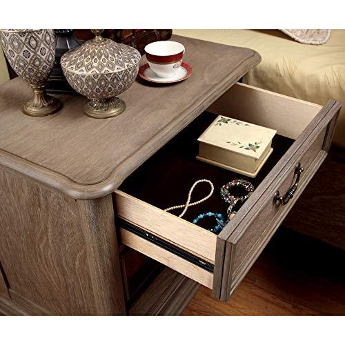 Furniture Of America Minka IV Rustic Grey 4 Piece Bedroom Set King 0 3