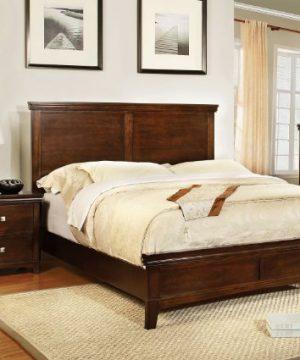 Furniture Of America Pasha 3 Piece Queen Platform Bedroom Set With Two Nightstands Brown Cherry Finish 0 300x360