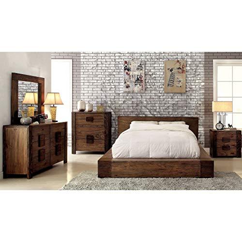 Furniture Of America Shaylen I Rustic 4 Piece Natural Tone Low Profile Bedroom Set California King 0 0