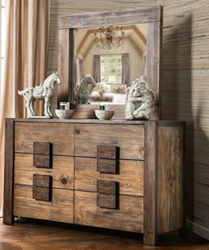 Furniture Of America Shaylen I Rustic 4 Piece Natural Tone Low Profile Bedroom Set California King 0 1 300x360