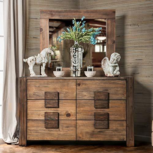 Furniture Of America Shaylen I Rustic 4 Piece Natural Tone Low Profile Bedroom Set California King 0 2