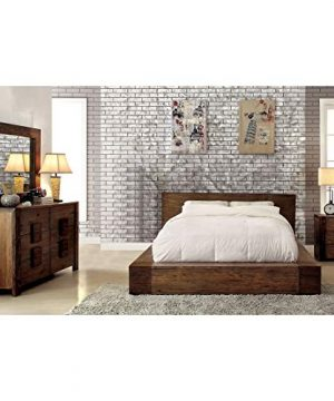 Furniture Of America Shaylen I Rustic 4 Piece Natural Tone Low Profile Bedroom Set California King 0 300x360