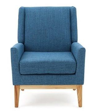 GDF Studio Archibald Mid Century Modern Fabric Accent Chair Blue 0 0 300x360
