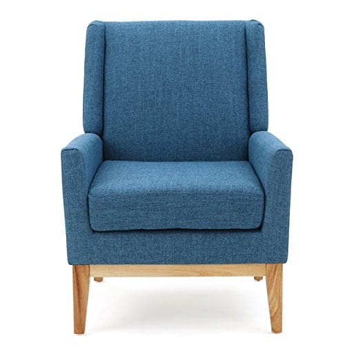 GDF Studio Archibald Mid Century Modern Fabric Accent Chair Blue 0 0