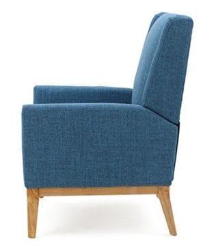 GDF Studio Archibald Mid Century Modern Fabric Accent Chair Blue 0 1 300x360