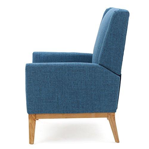 GDF Studio Archibald Mid Century Modern Fabric Accent Chair Blue 0 1