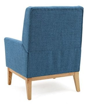 GDF Studio Archibald Mid Century Modern Fabric Accent Chair Blue 0 2 300x360
