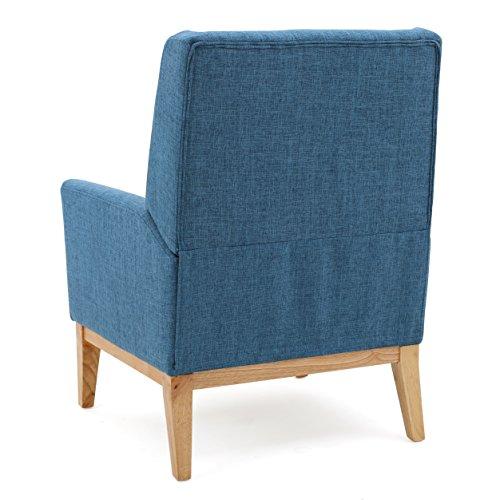 GDF Studio Archibald Mid Century Modern Fabric Accent Chair Blue 0 2