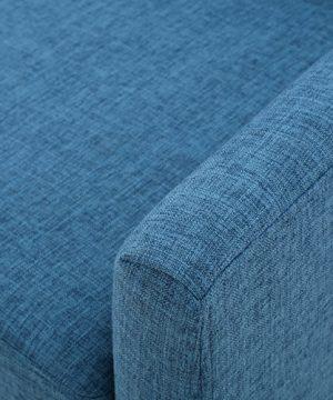 GDF Studio Archibald Mid Century Modern Fabric Accent Chair Blue 0 3 300x360