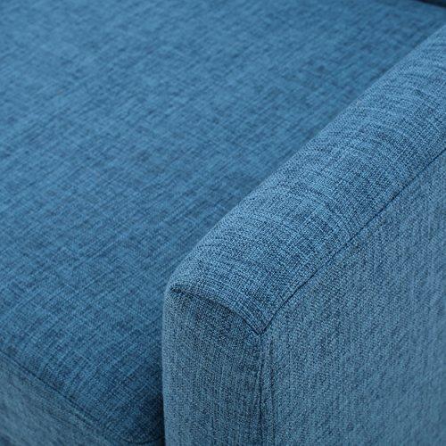 GDF Studio Archibald Mid Century Modern Fabric Accent Chair Blue 0 3