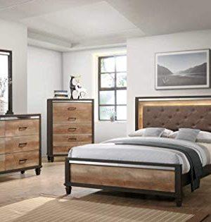 GTU Furniture Striking Two Tone Wooden 5Pc King Bedroom SetKDMNC 0 300x315