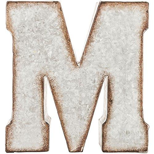 Generic Galvanized Metal 3D Letter MGrey Metal 0 0