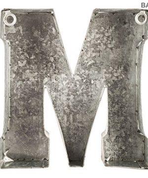 Generic Galvanized Metal 3D Letter MGrey Metal 0 1 300x360