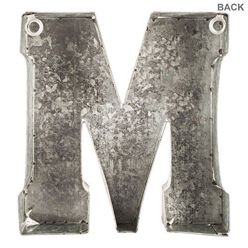 Generic Galvanized Metal 3D Letter MGrey Metal 0 1