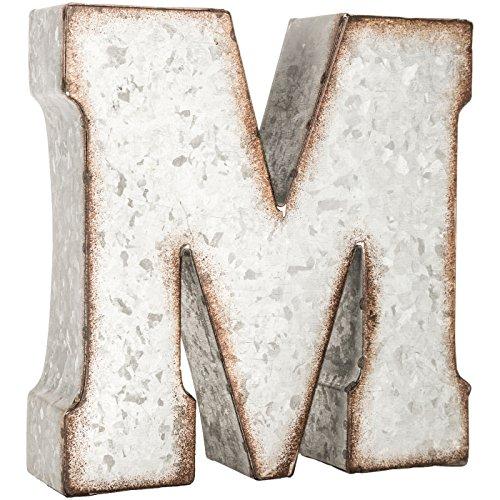 Generic Galvanized Metal 3D Letter MGrey Metal 0