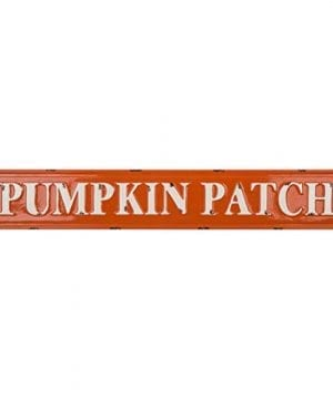 Glitzhome Rustic Style 3575 L Enameled Metal Pumpkin Patch Wall Sign For Fall Harvest Thanksgiving Decorations 0 0 300x360
