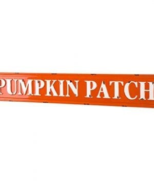 Glitzhome Rustic Style 3575 L Enameled Metal Pumpkin Patch Wall Sign For Fall Harvest Thanksgiving Decorations 0 1 300x360