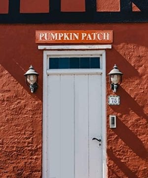 Glitzhome Rustic Style 3575 L Enameled Metal Pumpkin Patch Wall Sign For Fall Harvest Thanksgiving Decorations 0 3 300x360