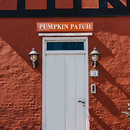 Glitzhome Rustic Style 3575 L Enameled Metal Pumpkin Patch Wall Sign For Fall Harvest Thanksgiving Decorations 0 3