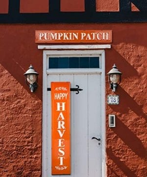 Glitzhome Rustic Style 3575 L Enameled Metal Pumpkin Patch Wall Sign For Fall Harvest Thanksgiving Decorations 0 4 300x360
