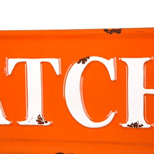 Glitzhome Rustic Style 3575 L Enameled Metal Pumpkin Patch Wall Sign For Fall Harvest Thanksgiving Decorations 0 5