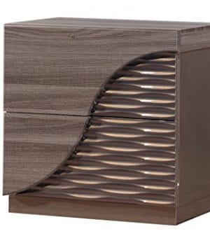 Global Furniture Nightstand 27 X 18 X 26 Zebra Wood With Gold Lines 0 300x360