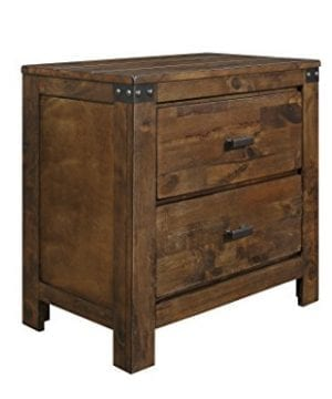 Global Furniture USA NS Victoria Nightstand Rustic Oak 0 300x360