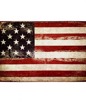 HANTAJANSS America Flag Signs Retro Metal Signs For Wall Art Decoration 12 X 8 Inches 0 300x360