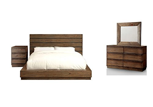 HOMES Inside Out 4 Piece IoHOMES Leisa Rustic Bed Set Queen Natural Tone 0