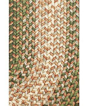 Hartford 2 X 3 Oval Braided Rug IndoorOutdoor Rug Kitchen Rugs In Green SunroomPorch Carpet 0 0 300x360