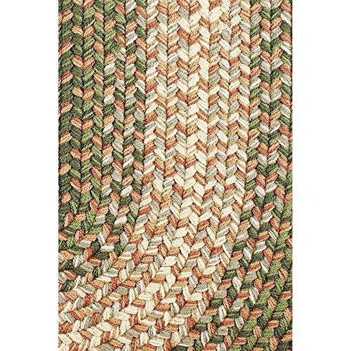 Hartford 2 X 3 Oval Braided Rug IndoorOutdoor Rug Kitchen Rugs In Green SunroomPorch Carpet 0 0