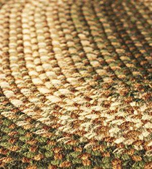 Hartford 2 X 3 Oval Braided Rug IndoorOutdoor Rug Kitchen Rugs In Green SunroomPorch Carpet 0 3 300x333