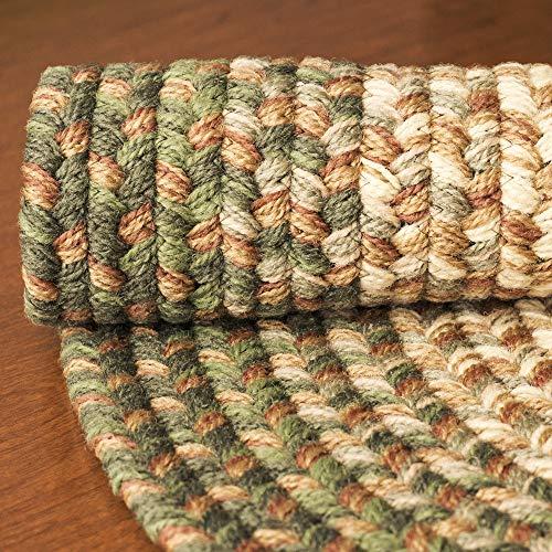 Hartford 2 X 3 Oval Braided Rug IndoorOutdoor Rug Kitchen Rugs In Green SunroomPorch Carpet 0 4