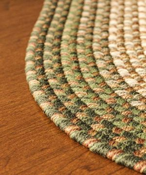 Hartford 2 X 3 Oval Braided Rug IndoorOutdoor Rug Kitchen Rugs In Green SunroomPorch Carpet 0 5 300x360