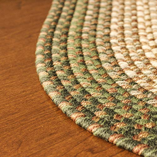 Hartford 2 X 3 Oval Braided Rug IndoorOutdoor Rug Kitchen Rugs In Green SunroomPorch Carpet 0 5