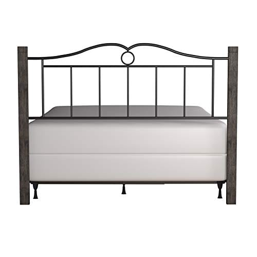 Hillsdale Furniture Dumont Headboard With Frame Queen Textured Black And Brushed Charcoal 0 2
