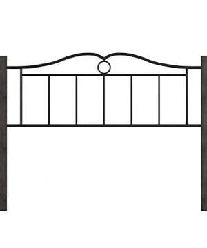 Hillsdale Furniture Dumont Headboard With Frame Queen Textured Black And Brushed Charcoal 0 3 300x360