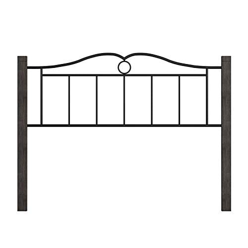 Hillsdale Furniture Dumont Headboard With Frame Queen Textured Black And Brushed Charcoal 0 3