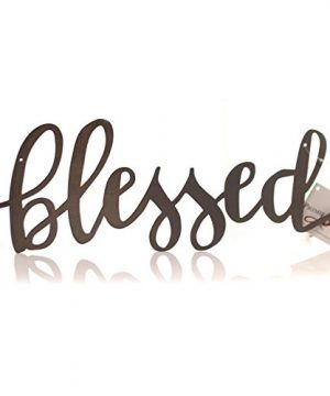 Home Decor BLESSED METAL SIGN Metal Family Art 37192 0 300x360
